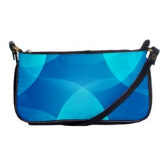 Abstract Blue Wallpaper Wave Shoulder Clutch Bags