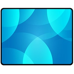 Abstract Blue Wallpaper Wave Fleece Blanket (medium)