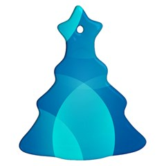 Abstract Blue Wallpaper Wave Ornament (Christmas Tree)