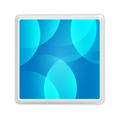 Abstract Blue Wallpaper Wave Memory Card Reader (Square)