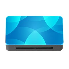 Abstract Blue Wallpaper Wave Memory Card Reader with CF