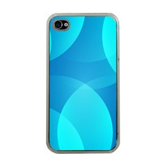 Abstract Blue Wallpaper Wave Apple iPhone 4 Case (Clear)