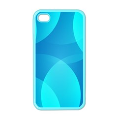 Abstract Blue Wallpaper Wave Apple iPhone 4 Case (Color)