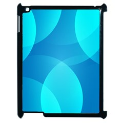 Abstract Blue Wallpaper Wave Apple iPad 2 Case (Black)