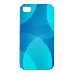 Abstract Blue Wallpaper Wave Apple iPhone 4/4S Hardshell Case