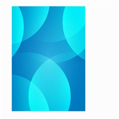 Abstract Blue Wallpaper Wave Large Garden Flag (two Sides)