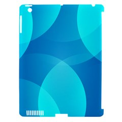Abstract Blue Wallpaper Wave Apple Ipad 3/4 Hardshell Case (compatible With Smart Cover)