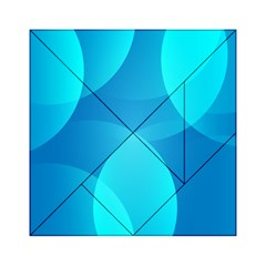 Abstract Blue Wallpaper Wave Acrylic Tangram Puzzle (6  X 6 )