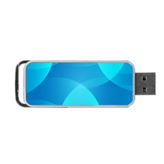 Abstract Blue Wallpaper Wave Portable Usb Flash (two Sides)