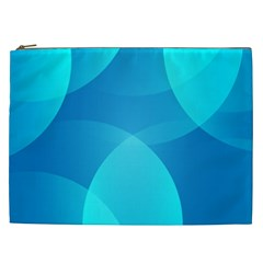 Abstract Blue Wallpaper Wave Cosmetic Bag (xxl)