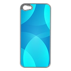 Abstract Blue Wallpaper Wave Apple Iphone 5 Case (silver)