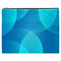 Abstract Blue Wallpaper Wave Cosmetic Bag (XXXL)