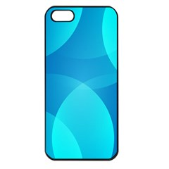 Abstract Blue Wallpaper Wave Apple iPhone 5 Seamless Case (Black)
