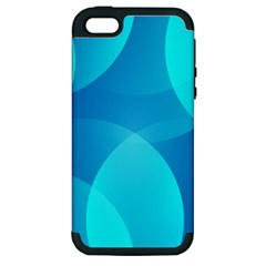 Abstract Blue Wallpaper Wave Apple iPhone 5 Hardshell Case (PC+Silicone)