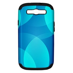 Abstract Blue Wallpaper Wave Samsung Galaxy S Iii Hardshell Case (pc+silicone)