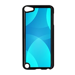 Abstract Blue Wallpaper Wave Apple iPod Touch 5 Case (Black)