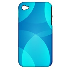 Abstract Blue Wallpaper Wave Apple iPhone 4/4S Hardshell Case (PC+Silicone)