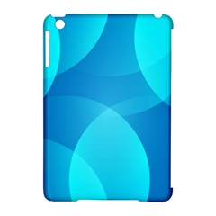 Abstract Blue Wallpaper Wave Apple iPad Mini Hardshell Case (Compatible with Smart Cover)
