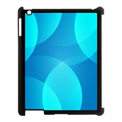 Abstract Blue Wallpaper Wave Apple Ipad 3/4 Case (black)