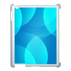 Abstract Blue Wallpaper Wave Apple Ipad 3/4 Case (white)
