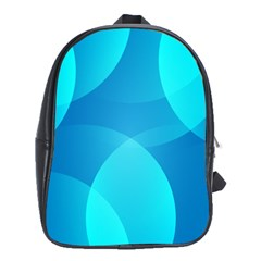 Abstract Blue Wallpaper Wave School Bags (xl)