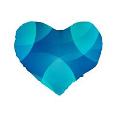 Abstract Blue Wallpaper Wave Standard 16  Premium Heart Shape Cushions