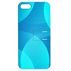 Abstract Blue Wallpaper Wave Apple Iphone 5 Hardshell Case With Stand