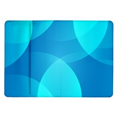Abstract Blue Wallpaper Wave Samsung Galaxy Tab 10 1  P7500 Flip Case