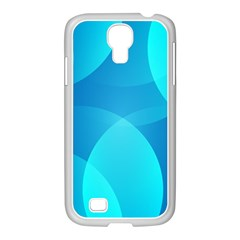 Abstract Blue Wallpaper Wave Samsung Galaxy S4 I9500/ I9505 Case (white)
