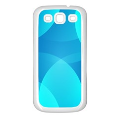 Abstract Blue Wallpaper Wave Samsung Galaxy S3 Back Case (white)