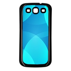 Abstract Blue Wallpaper Wave Samsung Galaxy S3 Back Case (black)