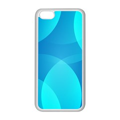 Abstract Blue Wallpaper Wave Apple Iphone 5c Seamless Case (white)