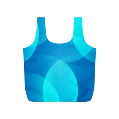 Abstract Blue Wallpaper Wave Full Print Recycle Bags (s)