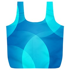 Abstract Blue Wallpaper Wave Full Print Recycle Bags (l)