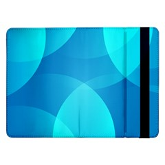 Abstract Blue Wallpaper Wave Samsung Galaxy Tab Pro 12 2  Flip Case
