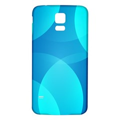 Abstract Blue Wallpaper Wave Samsung Galaxy S5 Back Case (white)