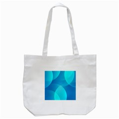 Abstract Blue Wallpaper Wave Tote Bag (white)