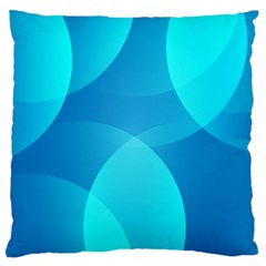 Abstract Blue Wallpaper Wave Standard Flano Cushion Case (one Side)