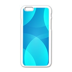 Abstract Blue Wallpaper Wave Apple iPhone 6/6S White Enamel Case