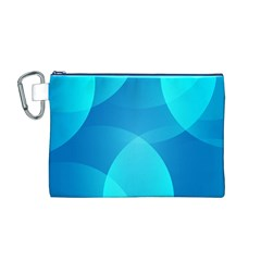 Abstract Blue Wallpaper Wave Canvas Cosmetic Bag (M)