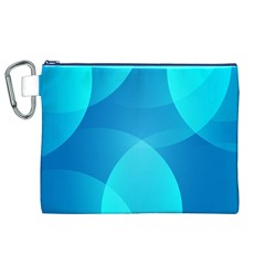 Abstract Blue Wallpaper Wave Canvas Cosmetic Bag (xl)