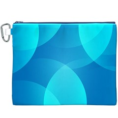Abstract Blue Wallpaper Wave Canvas Cosmetic Bag (xxxl)