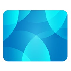 Abstract Blue Wallpaper Wave Double Sided Flano Blanket (Large)