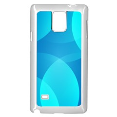 Abstract Blue Wallpaper Wave Samsung Galaxy Note 4 Case (White)