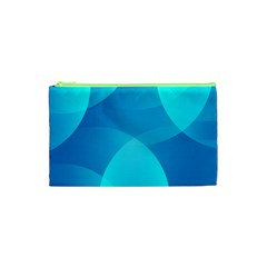 Abstract Blue Wallpaper Wave Cosmetic Bag (XS)