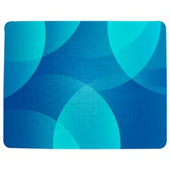 Abstract Blue Wallpaper Wave Jigsaw Puzzle Photo Stand (Rectangular)