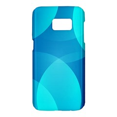 Abstract Blue Wallpaper Wave Samsung Galaxy S7 Hardshell Case