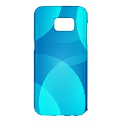 Abstract Blue Wallpaper Wave Samsung Galaxy S7 Edge Hardshell Case