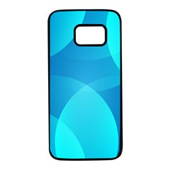 Abstract Blue Wallpaper Wave Samsung Galaxy S7 Black Seamless Case