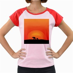 Elephant Baby Elephant Wildlife Women s Cap Sleeve T Shirt